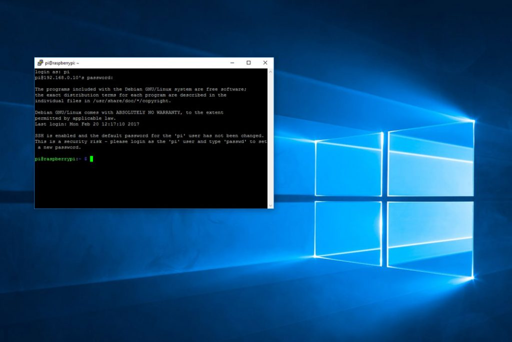 Putty sous windows