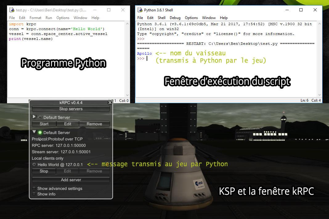 Fonctionnement de kRPC et Python