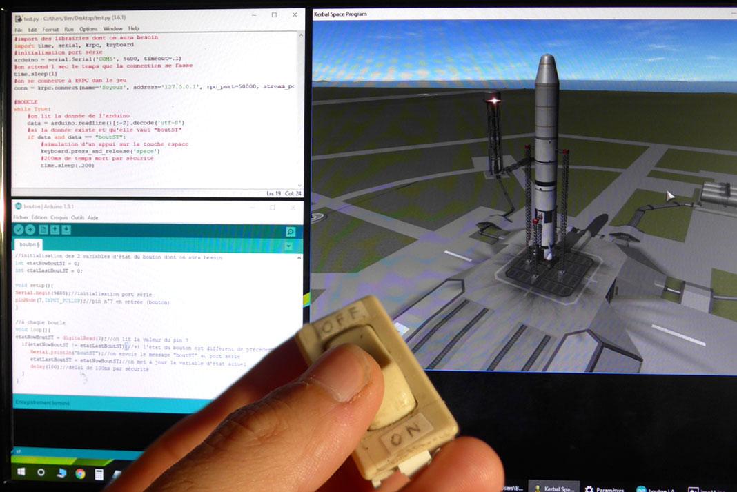 Bouton décollage fusée