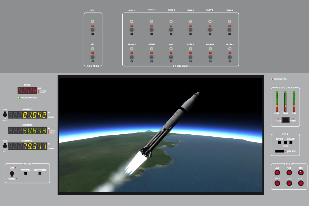 Plan complet du cockpit