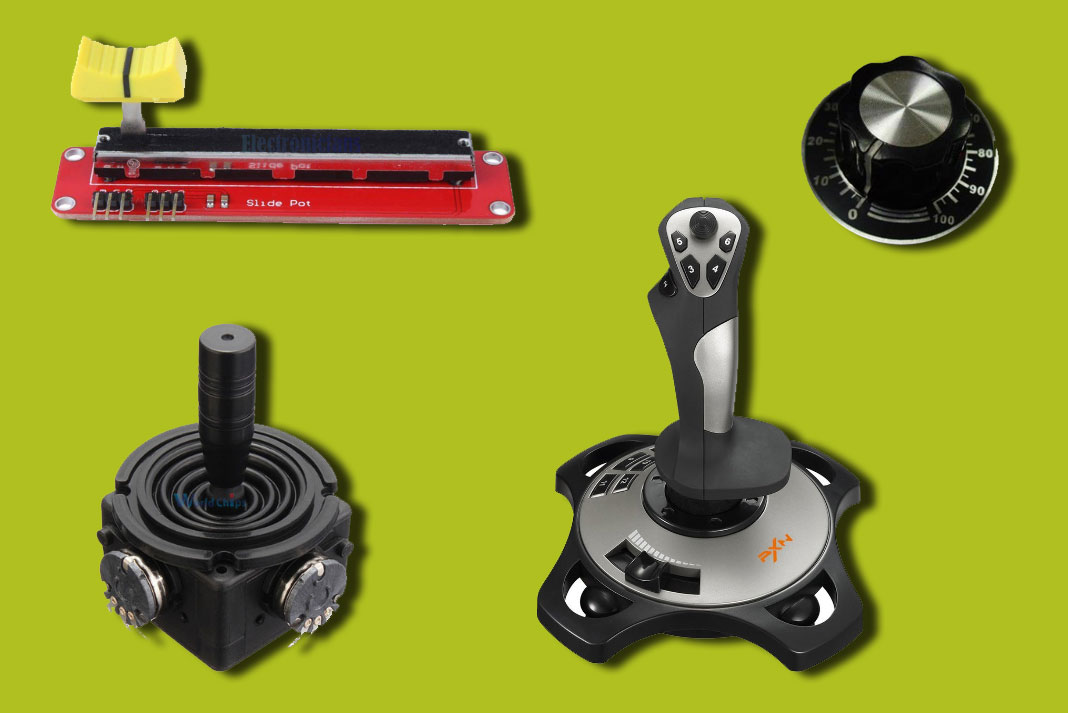 Joysticks et potentiomètres
