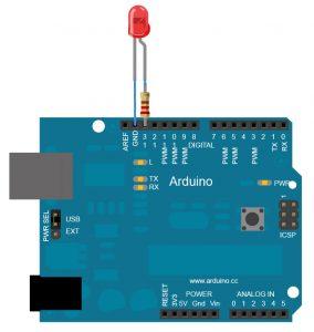 Montage Arduino pour le programme Blink