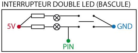Montage du bouton à double leds