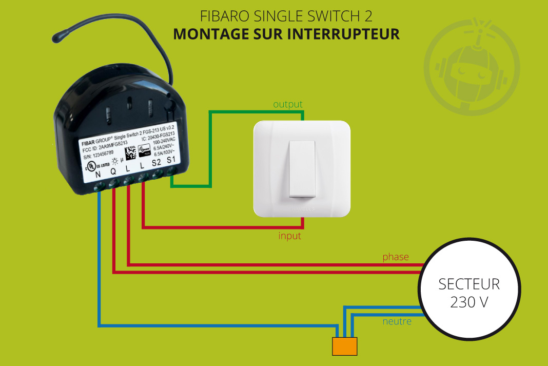 Schéma Single Switch interrupteur